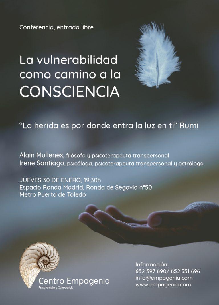 """Conferencia: """"La vulnerabilidad como camino a la Consciencia""""."""